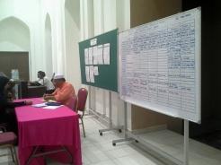Kaunter pendaftaran penajaan Iftar Ramadhan dan moreh. Setakat Ramadhan kedua, kelihatan jadual masih lagi belum dipenuhi.