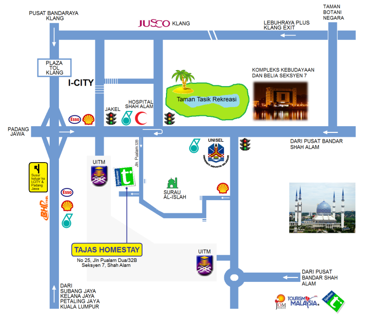Tajas Homestay Map